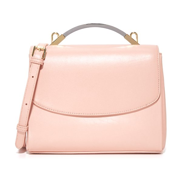 Cynthia Rowley gemma satchel in nude - A mixed-metal handle tops this supple Cynthia Rowley...