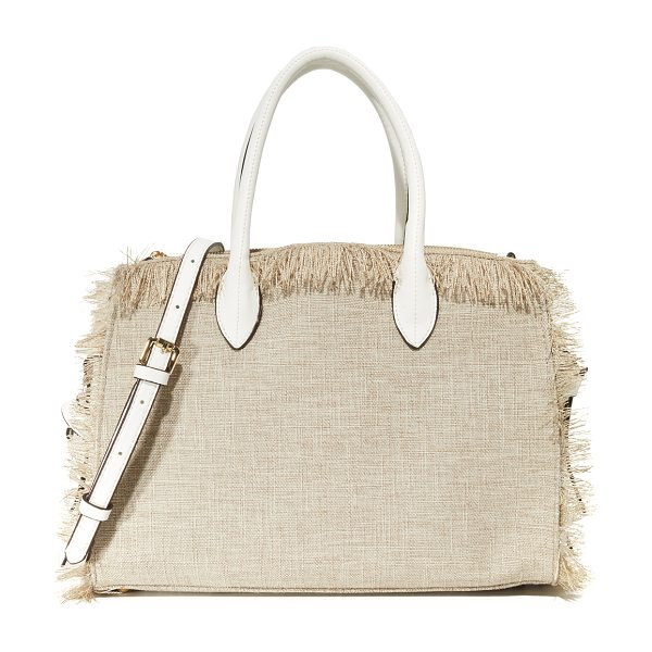 Cynthia Rowley miranda tote in natural - A canvas Cynthia Rowley satchel styled with knotted side...