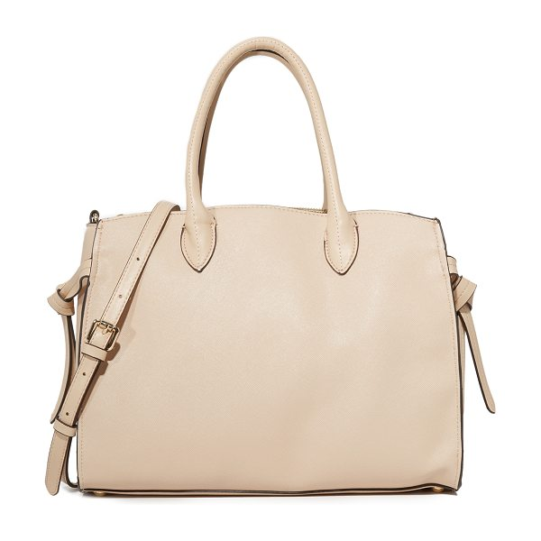 Cynthia Rowley miranda tote in nude - A faux-leather Cynthia Rowley satchel styled with...