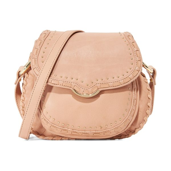 Cynthia Rowley Phoebe mini saddle bag in taupe - A petite Cynthia Rowley saddle bag with tiny polished...