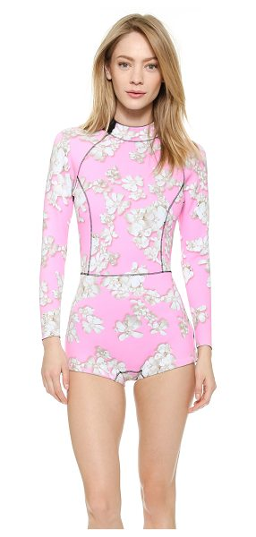 Cynthia Rowley Pink embellished floral wetsuit in pink floral