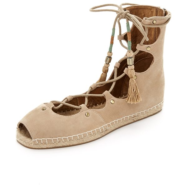 Cynthia Vincent Palace gladiator espadrilles in latte