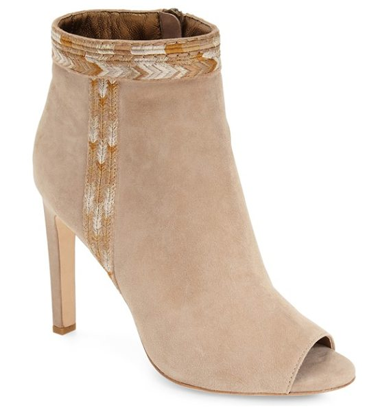 CYNTHIA VINCENT winona peep toe bootie - Shimmering chevron embroidery highlights the clean-lined...