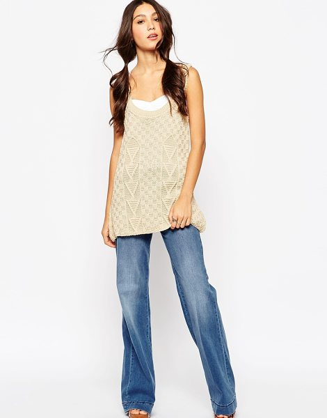 DAISY STREET Knitted tank tunic - Tunic by Daisy Street Textured knit Scoop neckline...