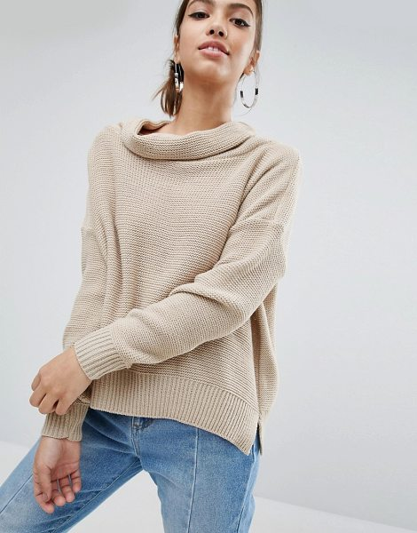 Daisy Street Oversized Cowl Neck Sweater in cream - Sweater by Daisy Street, Textured knit, Cowl neckline,...