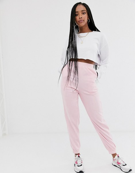 Daisy Street relaxed cuffed sweatpants-pink in pink