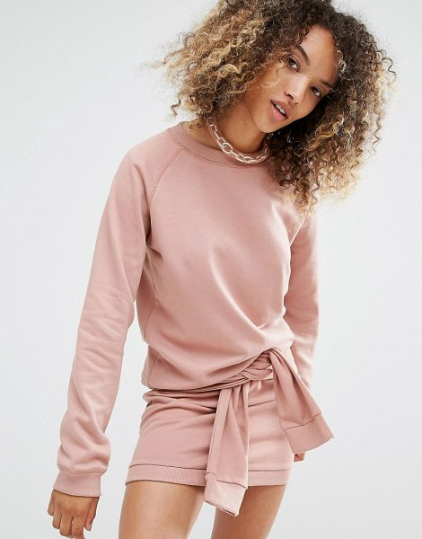 Daisy Street Relaxed Sweatshirt Co-Ord in pink - Sweatshirt by Daisy Street, Soft-touch sweat, Round...