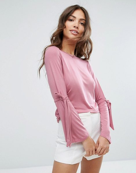 "DAISY STREET Tie Flare Sleeve T-Shirt - """"Top by Daisy Street, Soft-touch stretch fabric, Round..."