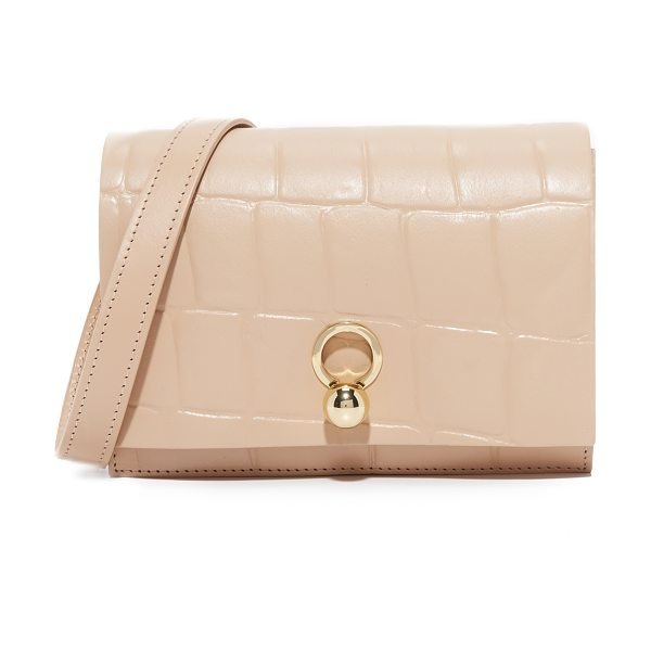 DANIELLE FOSTER charlie box bag in nude croc - Croc-embossed leather composes this chic Danielle Foster...