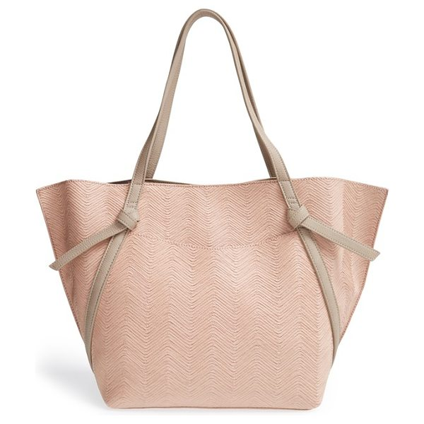 Danielle Nicole Raleigh textured tote in light pink - Embossed, zigzagging stripes lend on-trend texture to an...