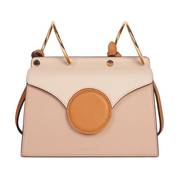 Danse Lente mini phoebe accordion leather bag in cashew camel