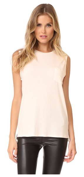 DAVID LERNER crew neck rolled muscle tee - This soft, slinky David Lerner muscle tee has fixed,...