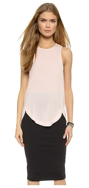David Lerner Racer swing tank top in blush - A slouchy David Lerner tank top in soft jersey, styled...