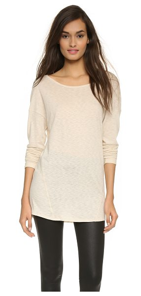 David Lerner Wedge pullover in nude - A boxy David Lerner pullover, styled with raised...