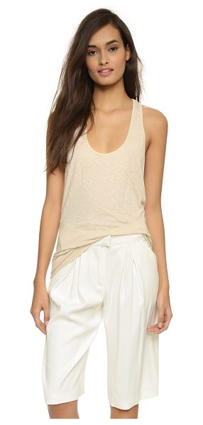 David Lerner Wedge tank top in nude