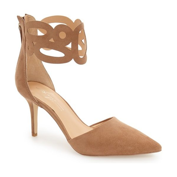 Daya by zen 'kanona' d'orsay cuffed pump in sand - A cutout cuff wraps playfully around the ankle of this...