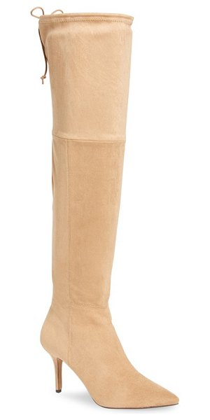 Daya by zen kassel over the knee boot in sand - A towering boot created by Zendaya and her stylist Law...