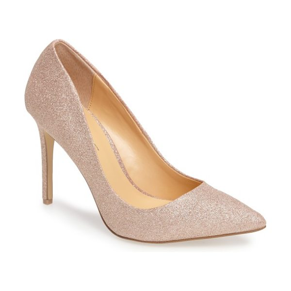 Daya by zen kyle ii pointy toe pump in rose gold - An essential pump with a classic profile features a...