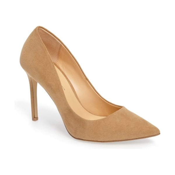 Daya by zen kyle ii pointy toe pump in sand microsuede - An essential pump with a classic profile features a...