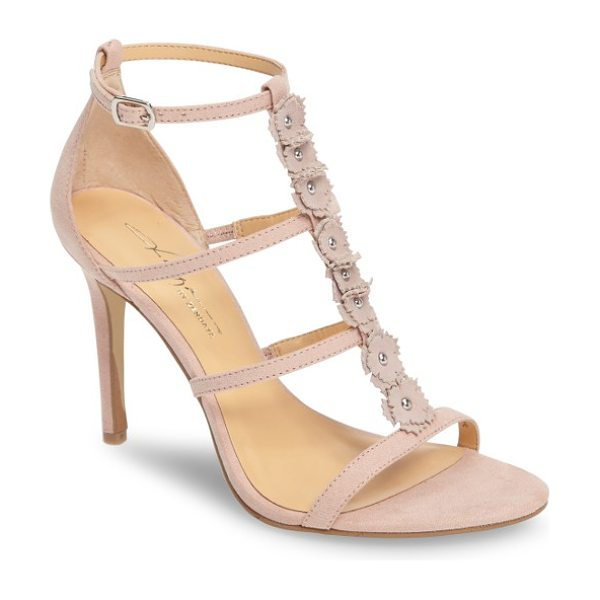 Daya by zen mariana flower sandal in blush microsuede - Suede flowers anchored by rounded studs bloom up the...