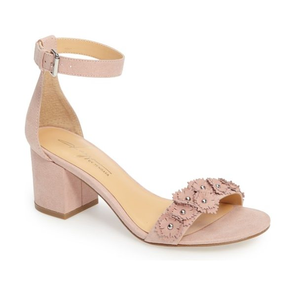 Daya by zen marietta flowered sandal in blush microsuede