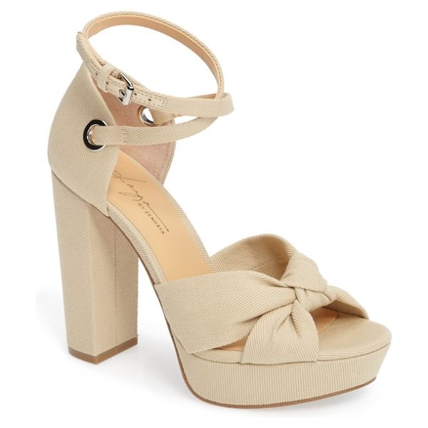 DAYA by zen mission ankle wrap platform pump - A flirty knot at the toe, slender wraparound ankle...