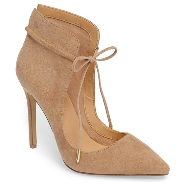Daya by zen nelly pointy toe pump in natural - A minimalist silhouette delivers maximum impact on this...