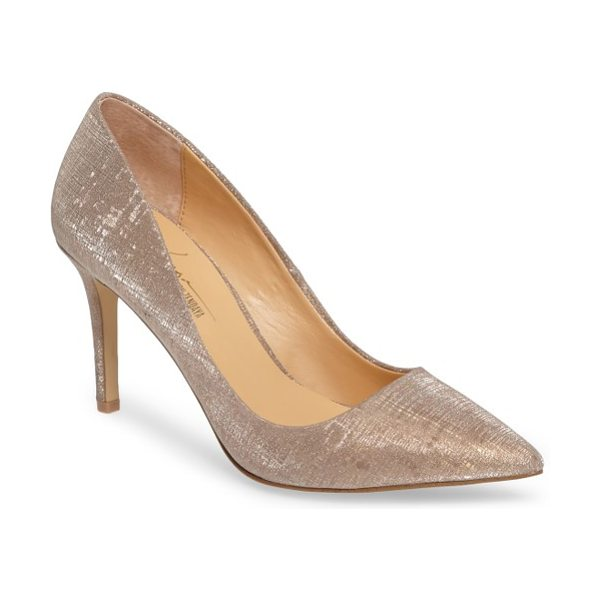 Daya by zen nycole metallic pump in gold - Shimmery golden fabric adds the Midas touch to a...