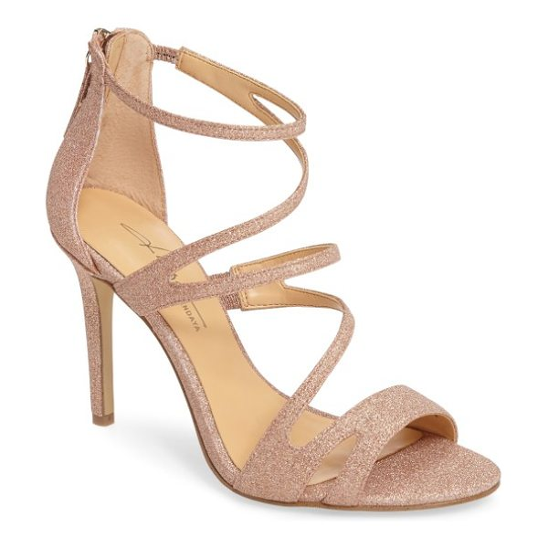 Daya by zen sikes sandal in rose gold - Glitter catches the light on this strappy stiletto...