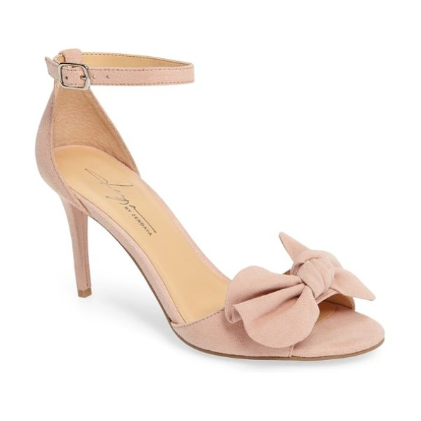 Daya by zen simms ankle strap sandal in blush - A soft-sculpted bow tops a breezy ankle-strap sandal...