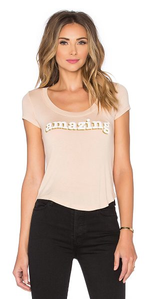 DAYDREAMER Amazing tee in tan - 96% rayon 4% spandex. Hand wash cold. Front graphic...