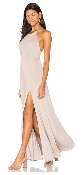 "De Lacy Nikki Dress in taupe - ""95% modal 5% spandex. Fully lined. Halter neck with..."
