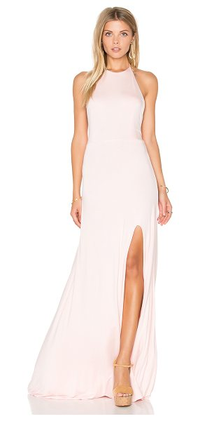 """De Lacy Nikki Maxi Dress in blush - """"95% modal 5% spandex. Fully lined. Adjustable neck tie..."""