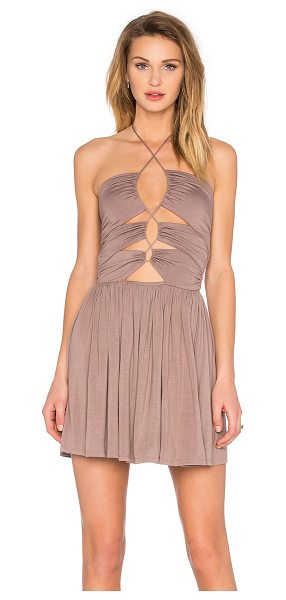 De Lacy Sophia Dress in taupe - 95% modal 5% spandex. Unlined. Front cut-out with...