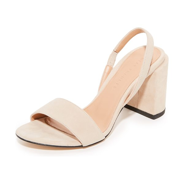 Dear Frances ash heels in taupe - A chunky, covered heel adds sturdy lift to these suede...