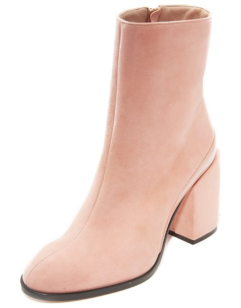 Dear Frances spirit booties in blush - Luxurious suede Dear Frances booties with patent leather...