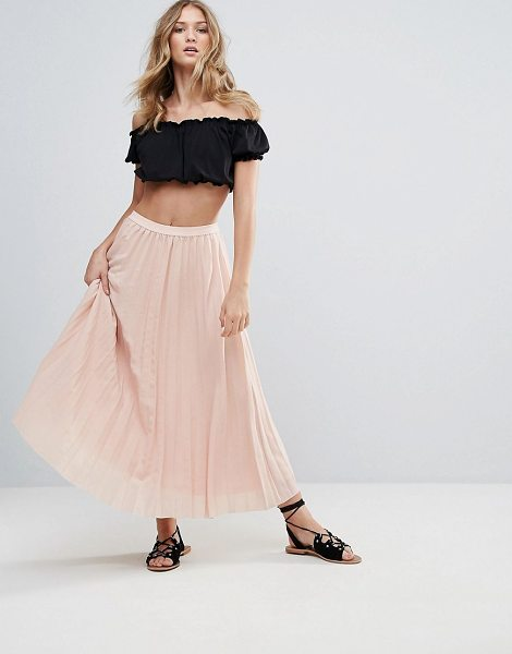 "Deby Debo 123 Pleated Maxi Skirt in pink - """"Skirt by Deby Debo, Woven fabric, Pleated finish, Mid..."