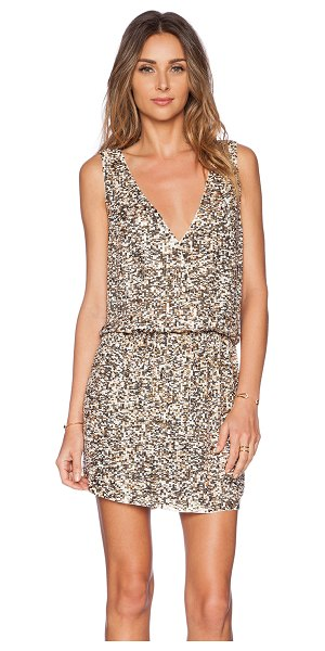 Deby Debo Horus dress in metallic gold - Poly blend. Dry clean only. Fully lined. Beaded and...