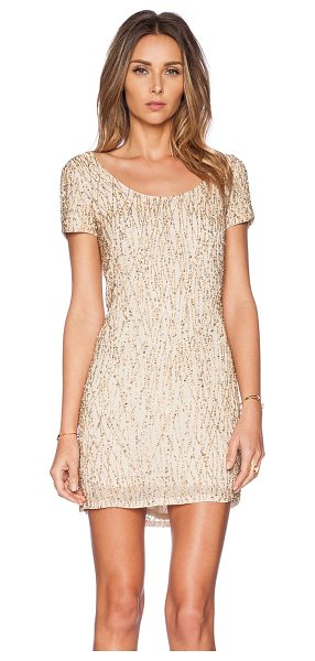 Deby Debo Jerry sequin dress in beige - Poly blend. Fully lined. Beaded and sequined throughout....