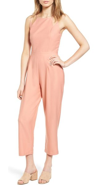 Dee Elly strappy jumpsuit in blush - A geometric neckline adds a modern touch to this...