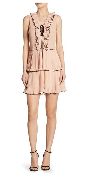 DELFI COLLECTIVE kiki pleated lace-up dress - EXCLUSIVELY AT SAKS FIFTH AVENUE. Pleated ruffles and...