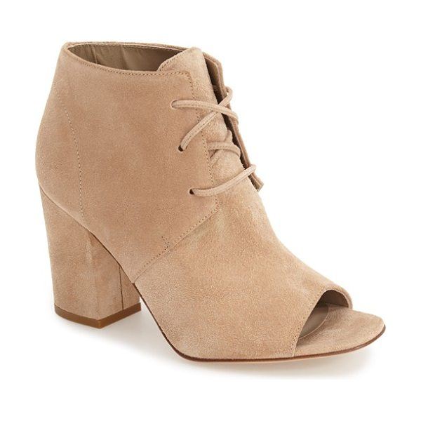 DELMAN anita peep toe bootie - This elevated take on a classic desert bootie features...