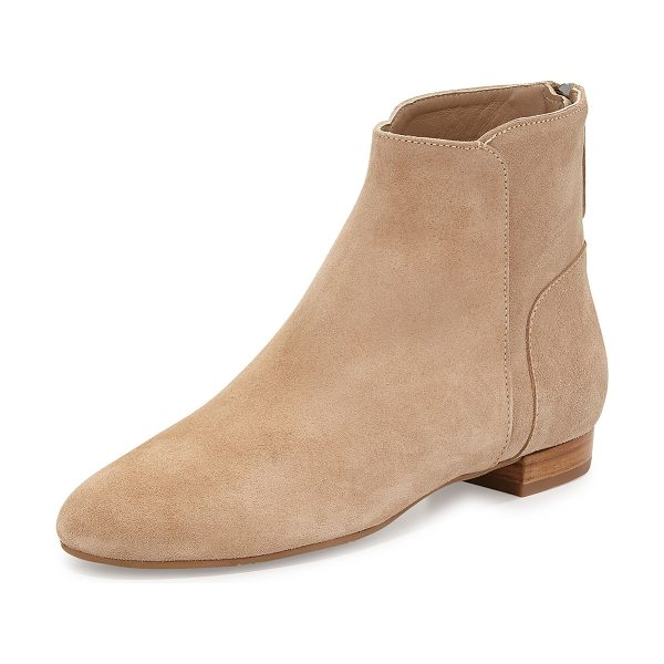 "Delman Myth suede ankle boot in flesh - Delman suede ankle boot. 0. 8"" flat heel. Round toe...."