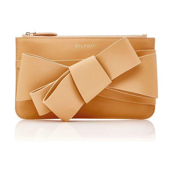 DELPOZO M'O Exclusive Polished Bow Clutch - This *M'O Exclusive Delpozo* bag is rendered in leather...