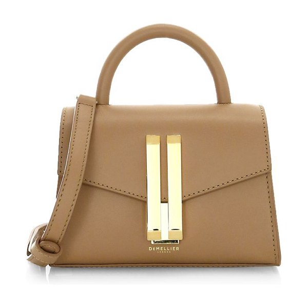 DeMellier nano montreal leather satchel in toffee