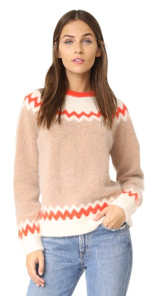 Demylee 10th anniversary ryen sweater in camel combo