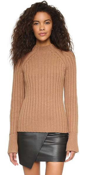 Demylee Beverly sweater in camel - A straight cut DEMYLEE sweater composed of chunky, wide...