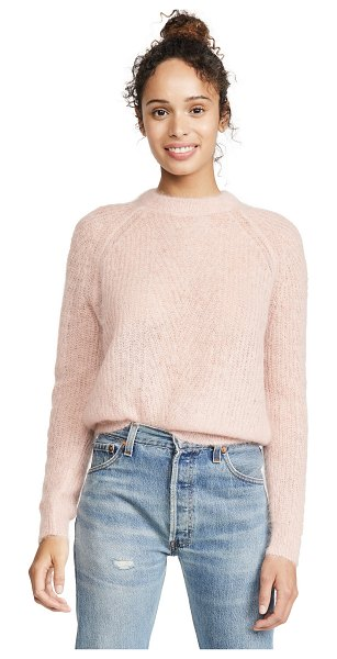 Demylee chelsea mohair sweater in baby pink