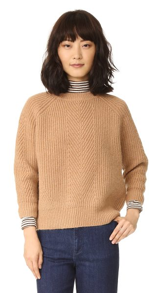 Demylee chelsea sweater in camel - A boxy DEMYLEE sweater in a warm mohair blend. Ribbed...