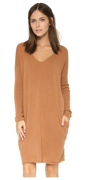 Demylee Dania cashmere tunic dress in camel - Luxurious cashmere lends an elegant touch to this simple...
